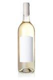 Accumulazione del vino - vino bianco in bottiglia Fotografia Stock