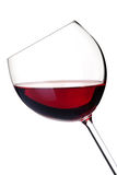 Accumulazione del vino - vino rosso in vetro Fotografia Stock Libera da Diritti