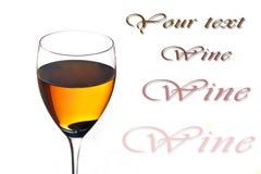Accumulazione del vino - vino rosso in vetro. Fotografia Stock Libera da Diritti