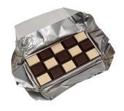 Accumulazione dell'alimento - cioccolato in bianco e nero Immagini Stock