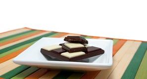Accumulazione dell'alimento - cioccolato in bianco e nero Fotografia Stock