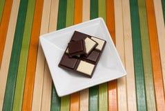Accumulazione dell'alimento - cioccolato in bianco e nero Immagine Stock Libera da Diritti