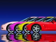 Accumulazione dell'automobile veloce Immagine Stock