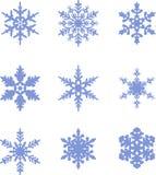 Accumulazione dell'icona dei fiocchi di neve Fiocchi di neve Immagine Stock Libera da Diritti
