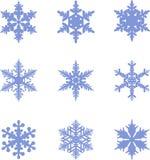 Accumulazione dell'icona dei fiocchi di neve Fiocchi di neve Fotografia Stock