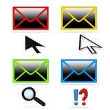 Accumulazione dell'icona della posta Fotografie Stock Libere da Diritti