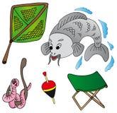 Accumulazione dell'icona di pesca Royalty Illustrazione gratis
