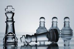 Accumulazione dell'insieme di scacchi: Controlli il compagno Immagini Stock Libere da Diritti