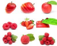 Accumulazione della bacca matura, frutta su bianco Immagini Stock Libere da Diritti