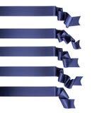 Accumulazione della bandiera del nastro blu Fotografia Stock