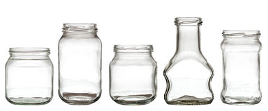 Accumulazione della bottiglia di vetro Fotografie Stock