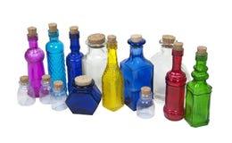 Accumulazione della bottiglia variopinta Fotografie Stock Libere da Diritti