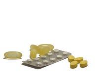 Accumulazione della compressa medicinale Fotografia Stock Libera da Diritti