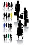 Accumulazione della donna di acquisto Immagini Stock