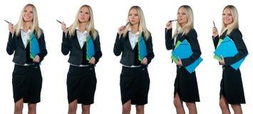 Accumulazione della donna di affari Fotografia Stock Libera da Diritti