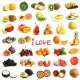 Accumulazione della frutta Fotografia Stock