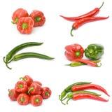 Accumulazione della frutta del pepe Fotografie Stock