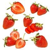 Accumulazione della frutta della fragola Fotografie Stock