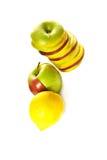 Accumulazione della frutta e del limone mixed Fotografia Stock Libera da Diritti