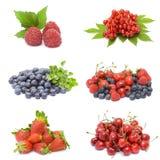 Accumulazione della frutta fresca Fotografia Stock