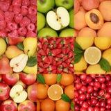 Accumulazione della frutta fresca Fotografie Stock