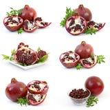 Accumulazione della frutta fresca del melograno Fotografia Stock