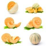 Accumulazione della frutta fresca del melone Immagini Stock Libere da Diritti