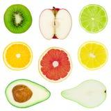 Accumulazione della frutta isolata Fotografia Stock
