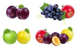 Accumulazione della frutta isolata su bianco Immagine Stock Libera da Diritti