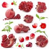 Accumulazione della frutta rossa del melograno Fotografia Stock Libera da Diritti