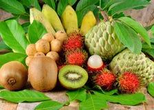 Accumulazione della frutta tropicale Fotografia Stock Libera da Diritti