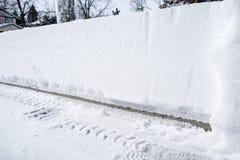 Accumulazione della neve su una strada privata #2 Fotografia Stock