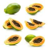Accumulazione della papaia Fotografia Stock Libera da Diritti