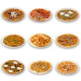 Accumulazione della pizza Immagini Stock