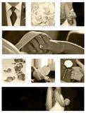Accumulazione della priorità bassa del collage di cerimonia nuziale Immagini Stock Libere da Diritti