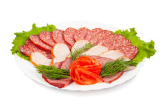 Accumulazione della salsiccia Fotografia Stock