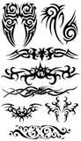 Accumulazione della siluetta del tatuaggio Fotografia Stock Libera da Diritti