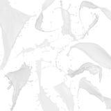Accumulazione della spruzzata del latte illustrazione vettoriale