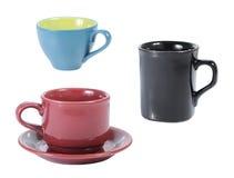 Accumulazione della tazza e della tazza Fotografia Stock Libera da Diritti