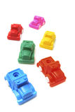 Accumulazione delle automobili di plastica del giocattolo Fotografia Stock