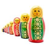 Accumulazione delle bambole russe antiche Fotografia Stock Libera da Diritti