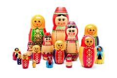 Accumulazione delle bambole russe antiche Fotografia Stock