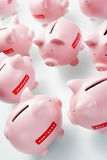 Accumulazione delle banche Piggy Immagine Stock