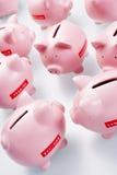Accumulazione delle banche Piggy Fotografie Stock
