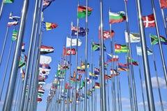 Accumulazione delle bandierine internazionali Immagine Stock Libera da Diritti