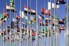 Accumulazione delle bandierine internazionali Immagini Stock