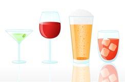 Accumulazione delle bevande Immagini Stock Libere da Diritti