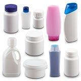 Accumulazione delle bottiglie di plastica Fotografie Stock Libere da Diritti