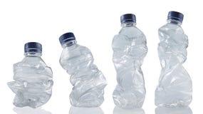 Accumulazione delle bottiglie di plastica utilizzate vuote Fotografia Stock Libera da Diritti