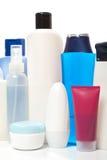 Accumulazione delle bottiglie di salute e di bellezza Immagine Stock Libera da Diritti